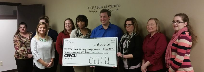 CEFCU Makes Donation to CYFS for Renovations of Springfield Visitation Room
